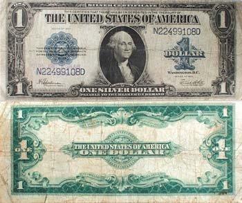 1923 Horseblanket Large Note $ 1