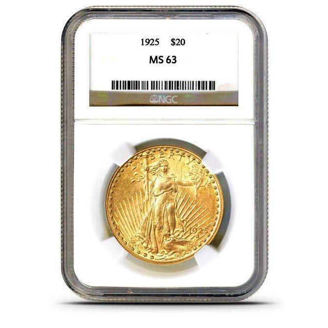 1925 MS 64 NGC $ 20 Saint Gauden's Gold