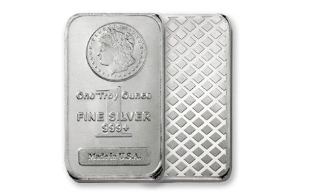 1 Troy Oz. Silver Morgan Design Bar