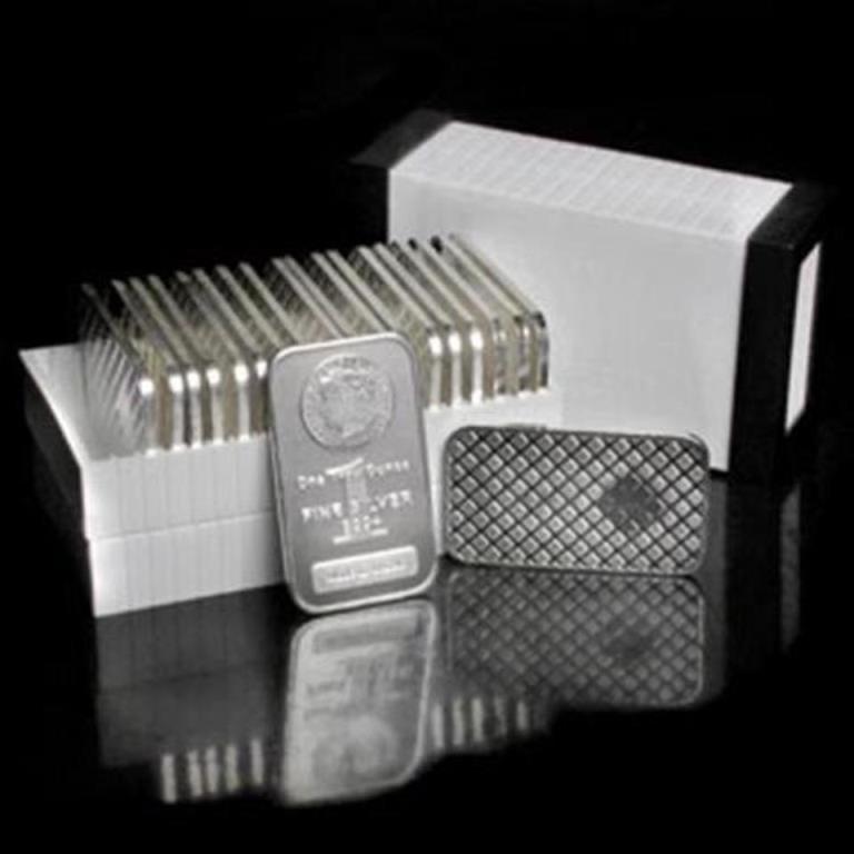 Lot of 20 Morgan Design Silver Bars 1oz each