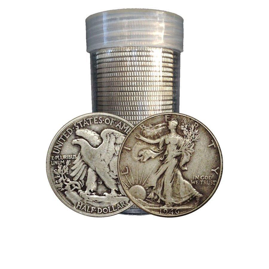 (20)  Walking Liberty Half Dollars in Roll