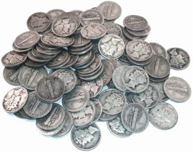 (50) Mercury Dimes - 90% Silver Mixed Random