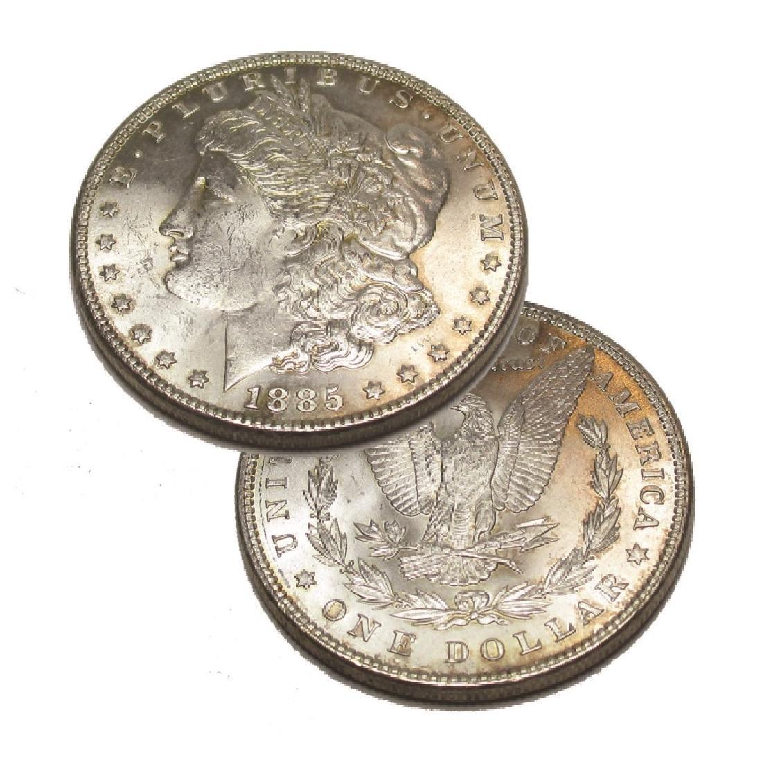 1885 P CH BU Morgan Silver Dollar