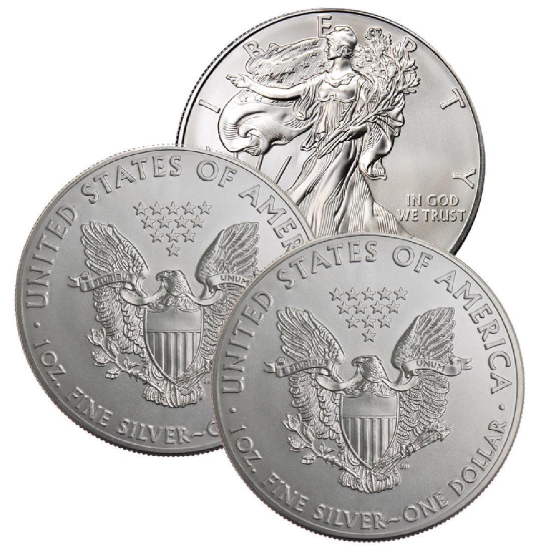 Lot of (3) Random Date  US Silver Eagles