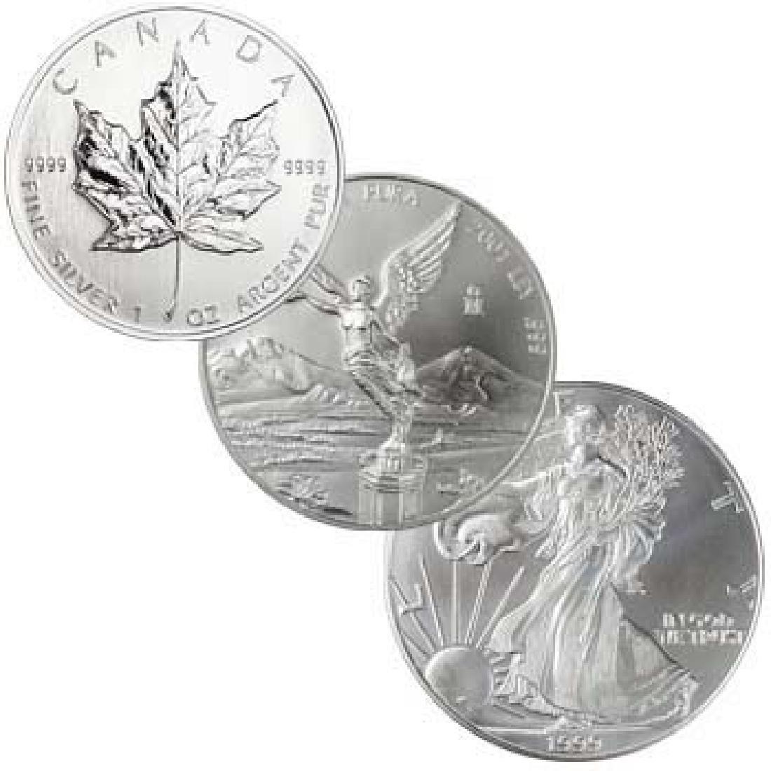 N American Silver Bullion Lot  1 oz Each