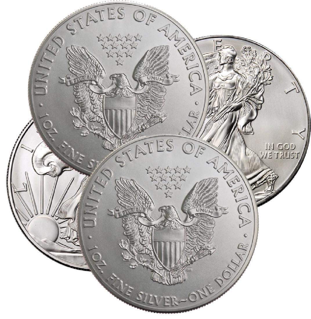 Lot of (4) US Silver Eagles - Random Dates