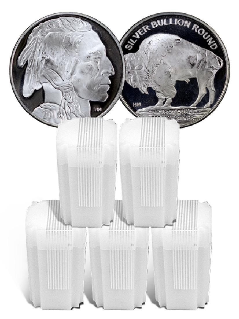 (100) Buffalo Design Silver Rounds 1 oz Each
