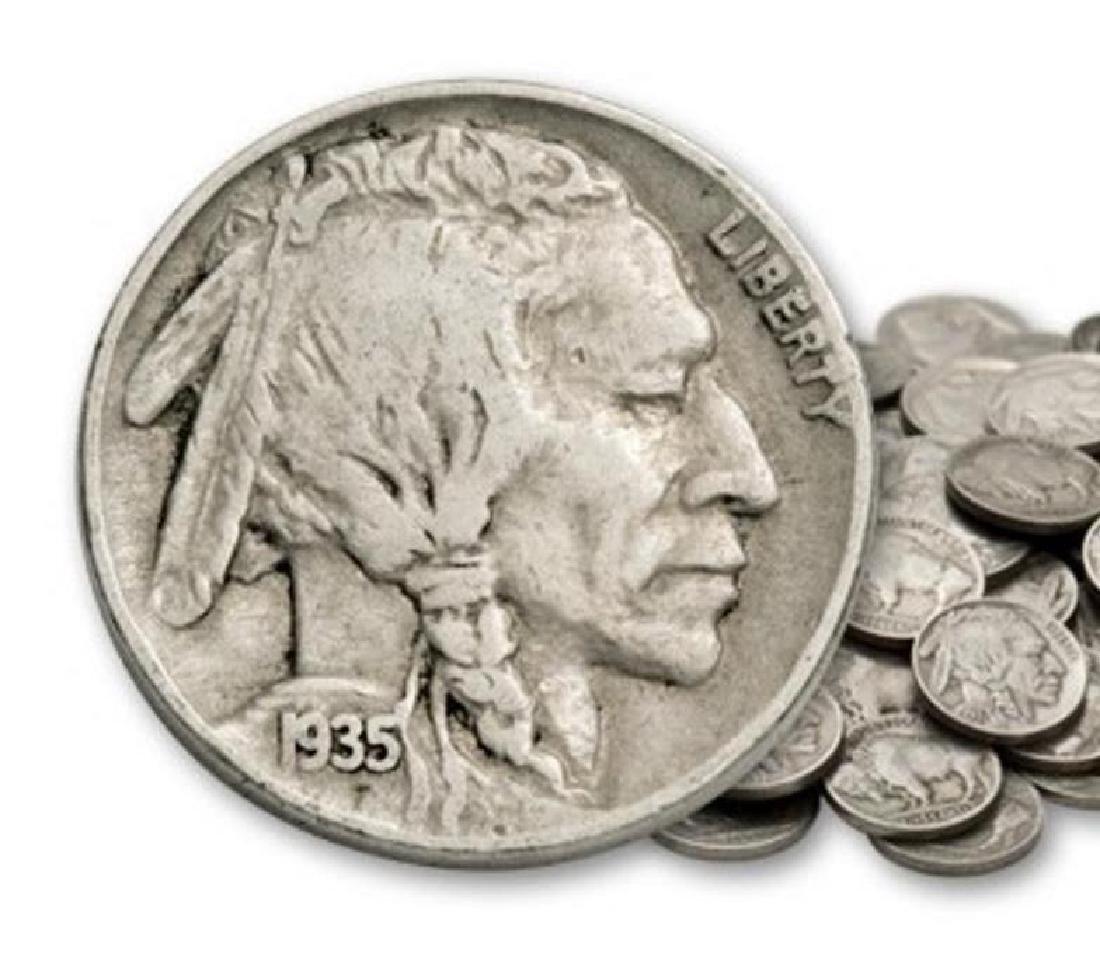 Roll of Full Date Buffalo Nickels - 40 pcs