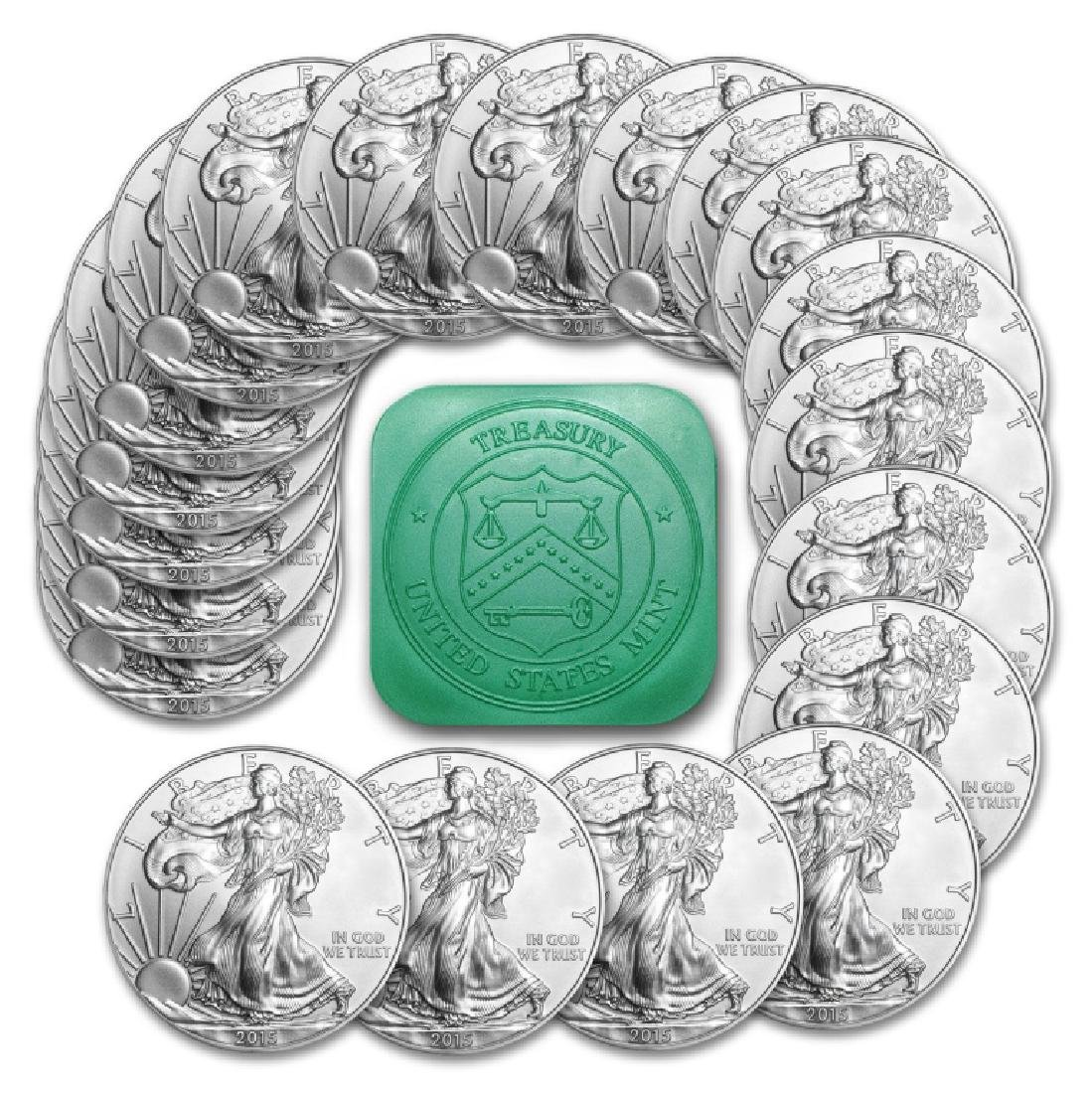 20 pcs US Silver Eagles Random Dates Mint Roll
