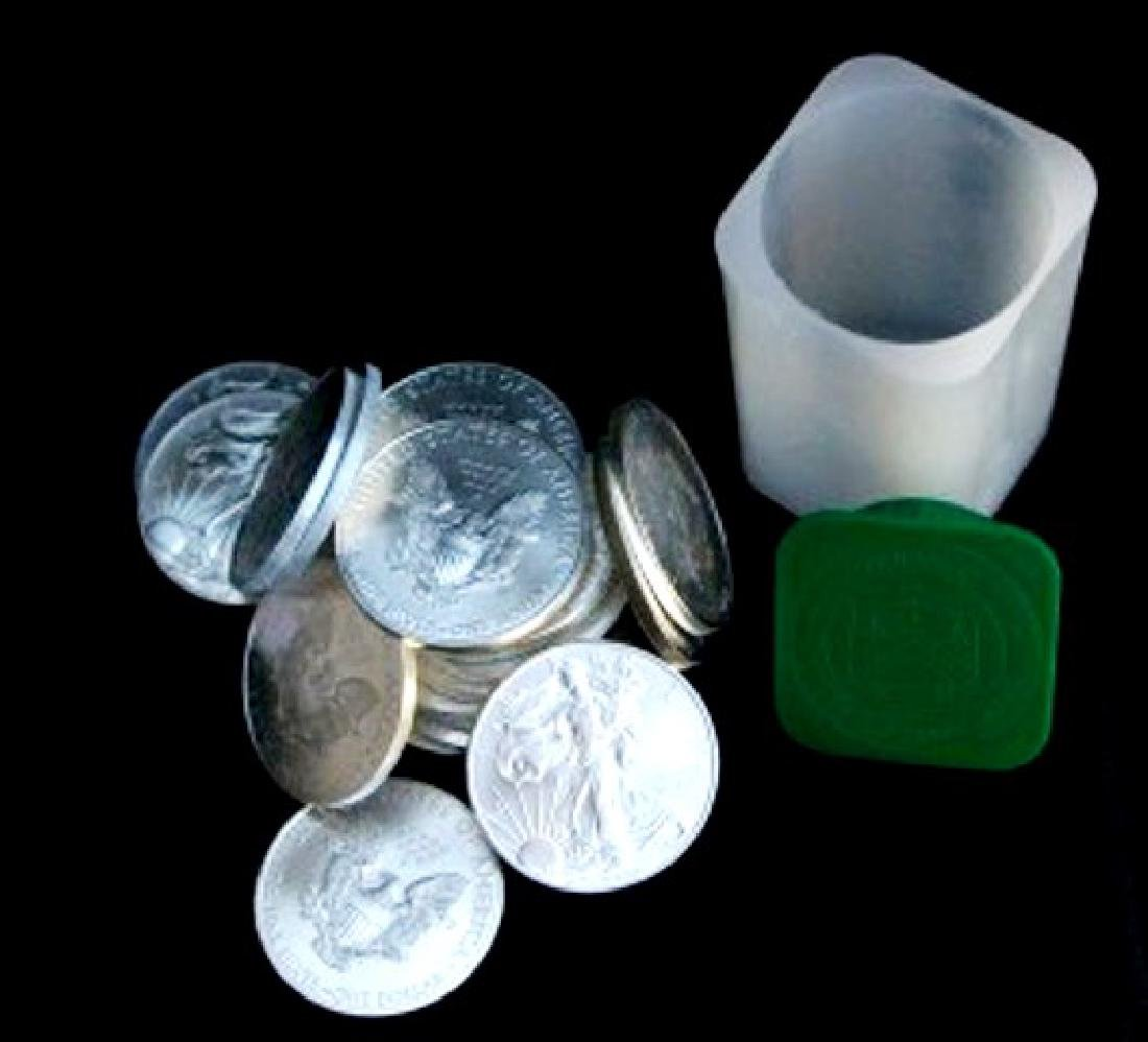Roll of Random Solid Date Mint Tubed Silver Eagles