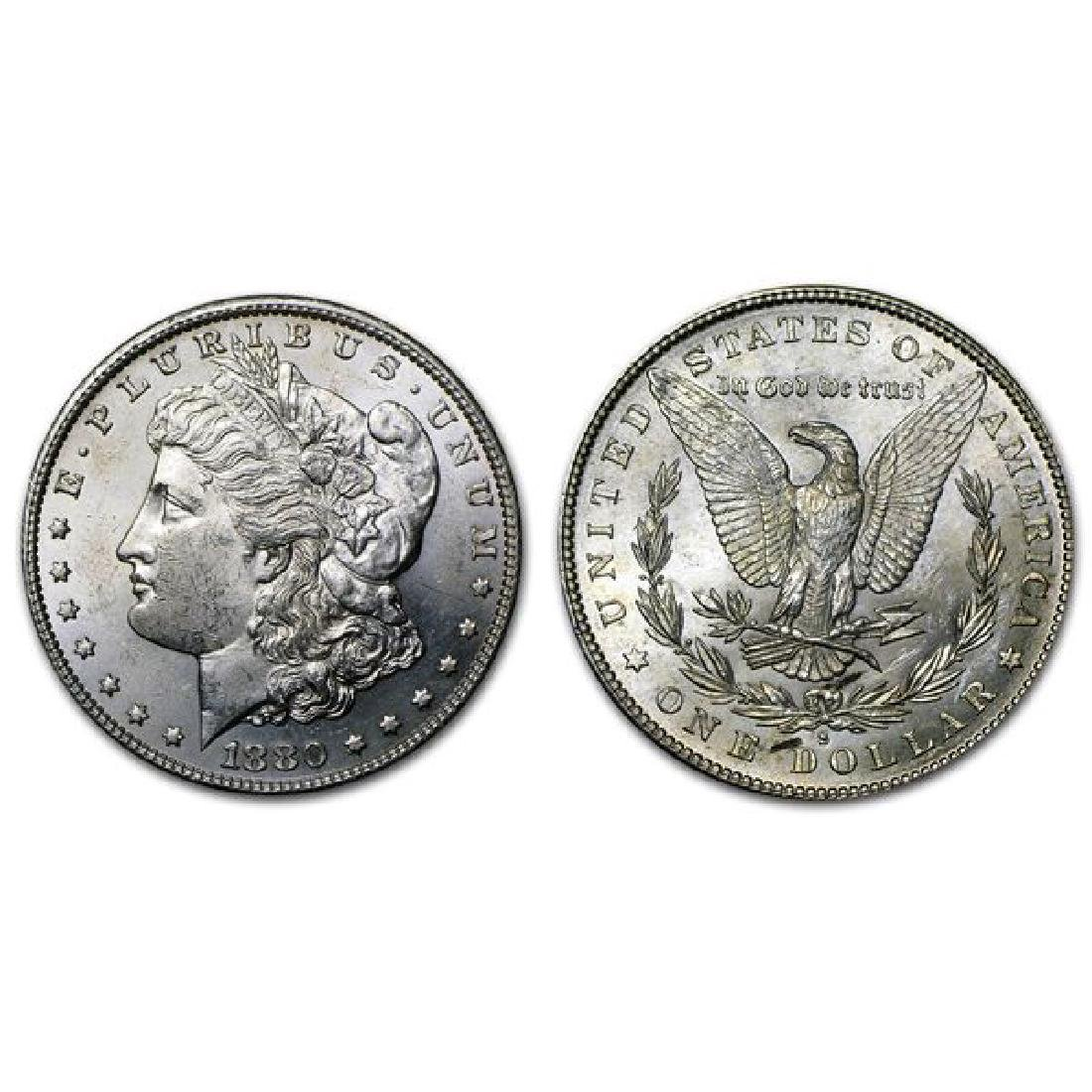 1880 S BU Morgan Silver Dollar