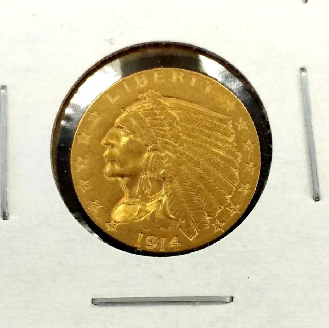 1914 $ 2.5 Gold Indian