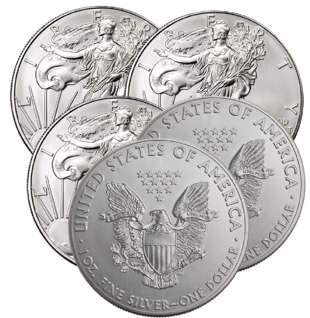 Lot of (5) Random Date US Silver Eagles