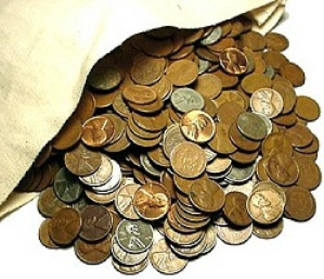 Bank Bag of 2000 Wheat Cents - Random Mixed