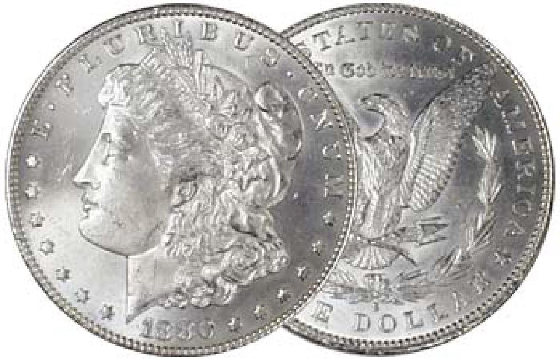 1880 S Crisp BU Morgan Silver Dollar