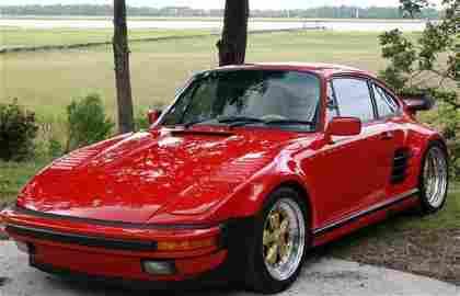 7690: 1987 FACTORY ORIGINAL SLANT NOSE TURBO RED 911 PO