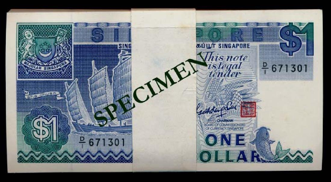 Singapore 100x$1 1987 ship GKS
