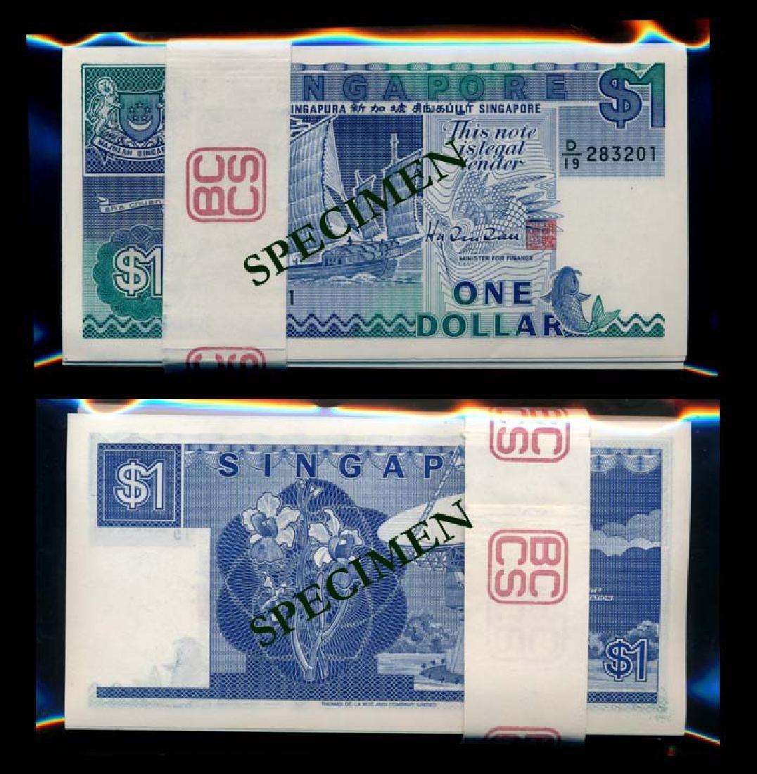 Singapore 100x$1 1987 ship HTT