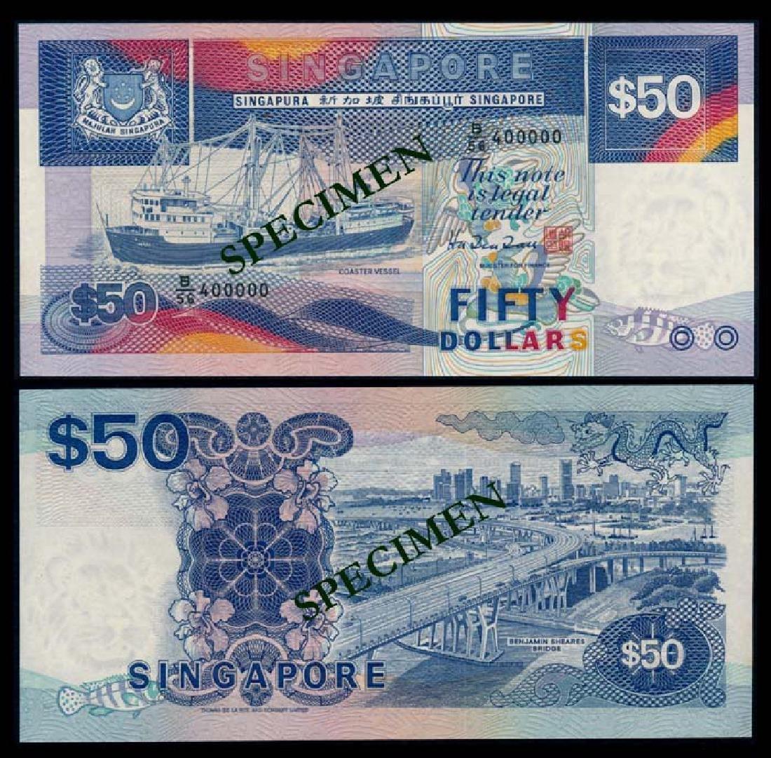 Singapore $50 1987 ship AU