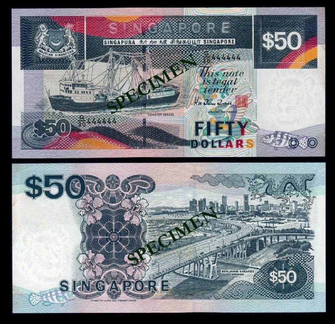 Singapore $50 1997 ship HTT G/30 444444