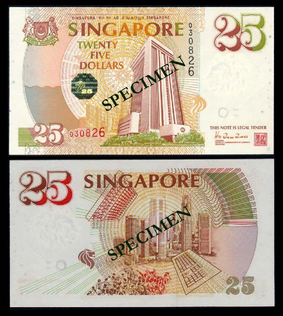Singapore $25 1996 MAS 25th Anniversary Comm
