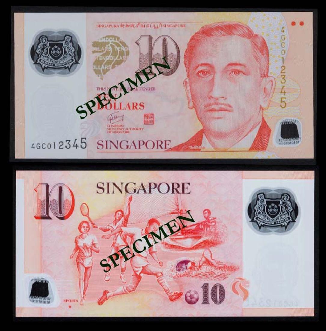 Singapore $10 1999 GCT 4GC 012345