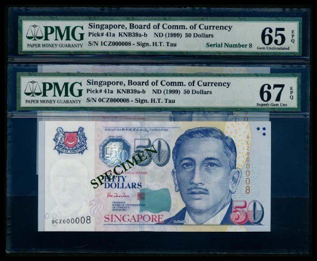 Singapore 2x$50 President Ishak HTT PMG