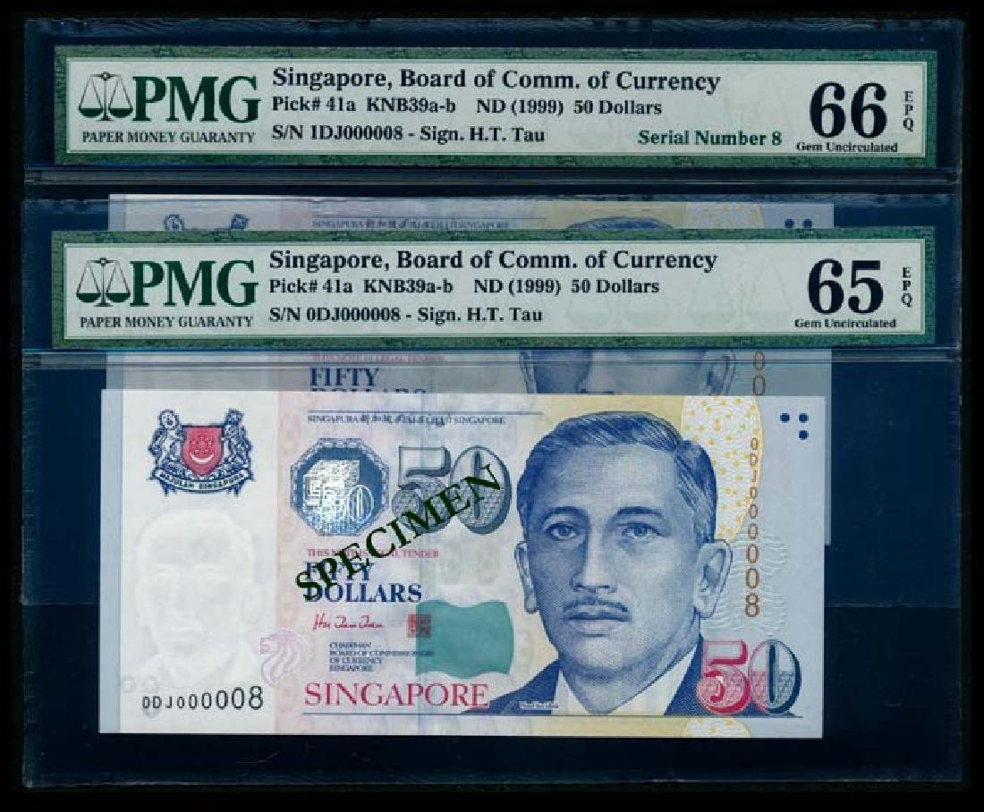 Singapore 2x$50 HTT PMG