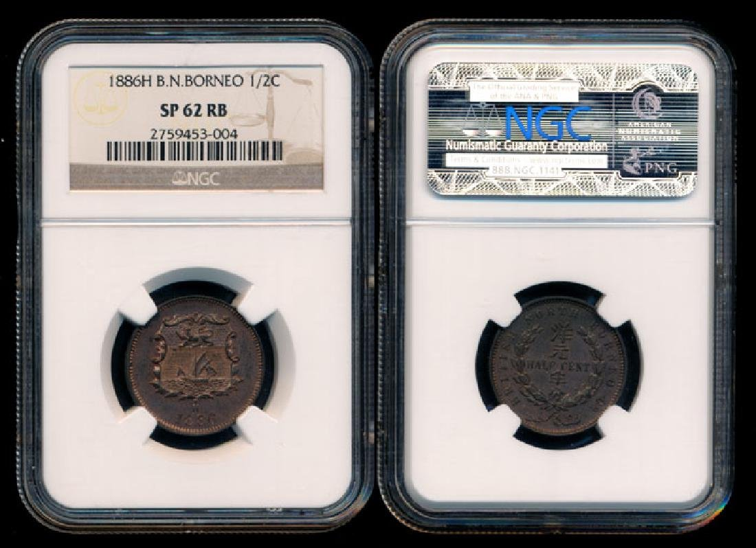 British North Borneo 1/2c 1886H specimen NGC