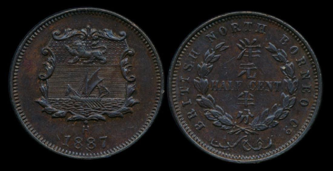 British North Borneo 1/2c 1887H AU