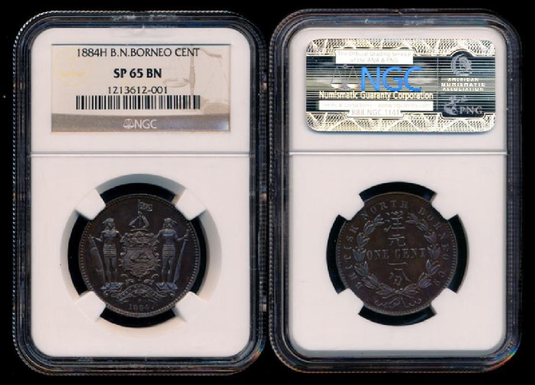 British North Borneo 1c 1884H specimen NGC