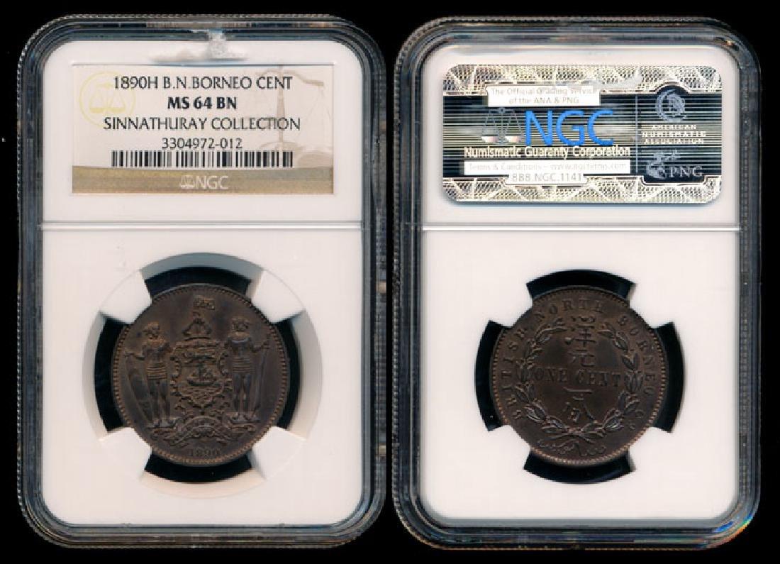 British North Borneo 1c 1890H NGC MS64BN