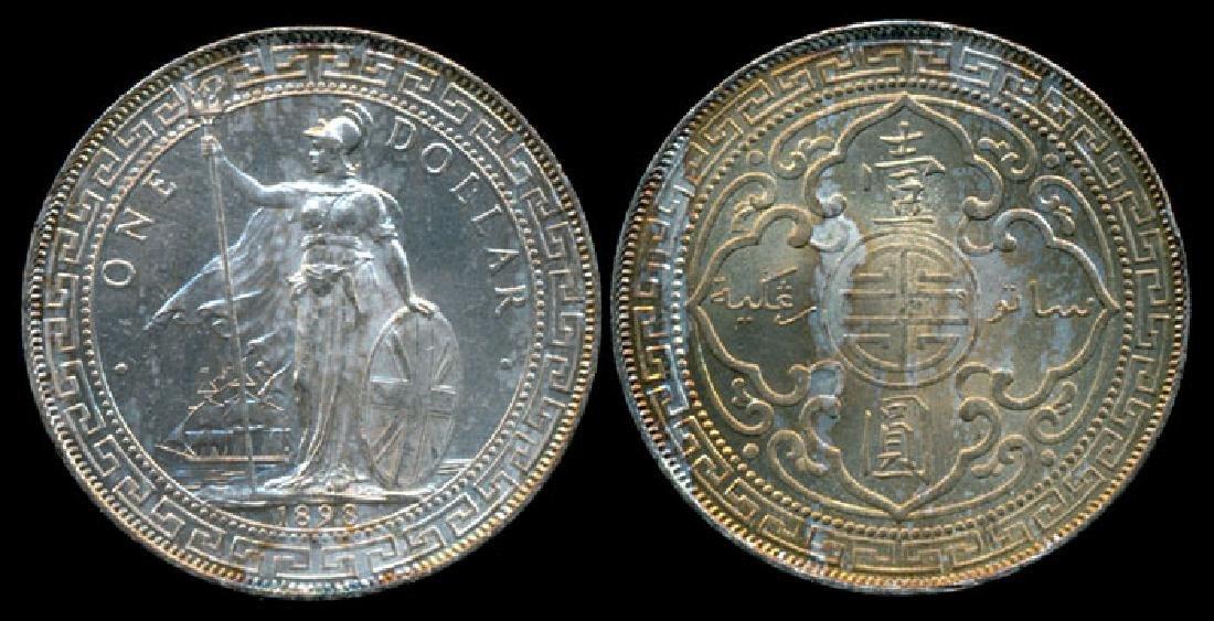 British Trade Dollars 1898B AU