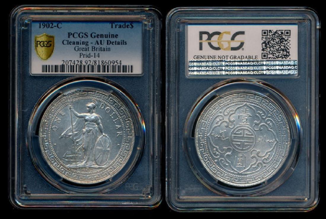 British Trade Dollars 1902C PCGS