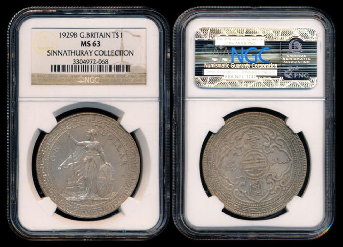 British Trade Dollars 1929B NGC MS63