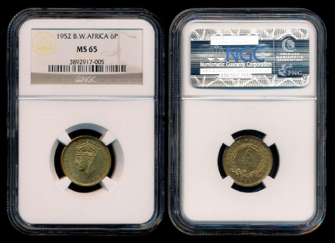 British West Africa KGVI 6 Pence 1952 NGC