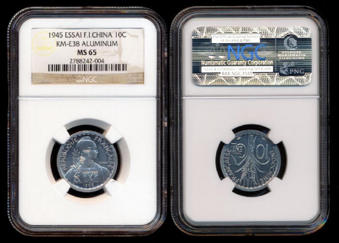 French Indo-China 10c 1945 Essai NGC MS65