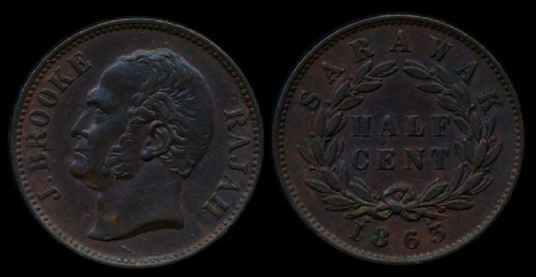 Sarawak J Brooke 1/2c 1863 EF