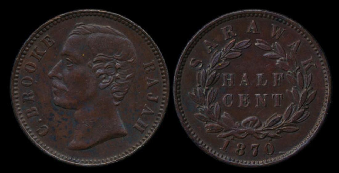 Sarawak C Brooke 1/2c 1870 GEF