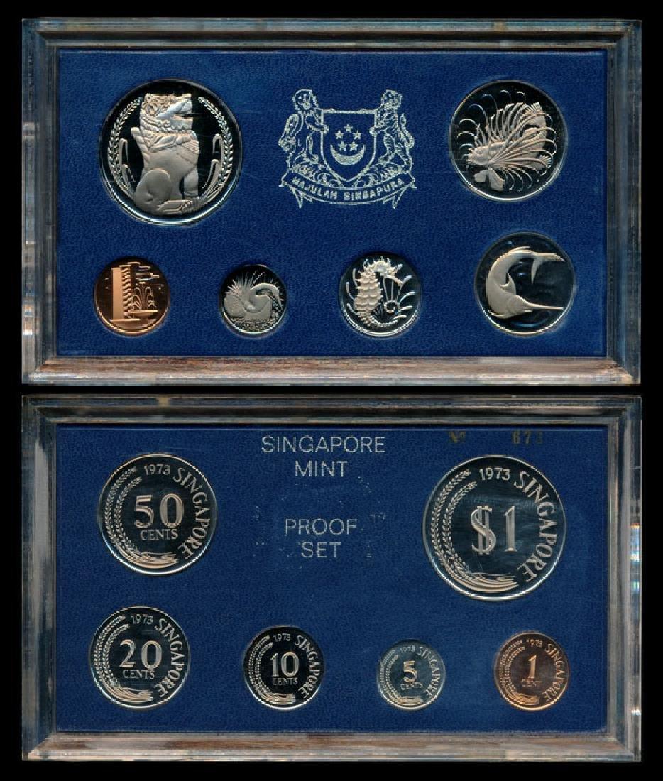 Singapore 1c-$1 1973 proof set