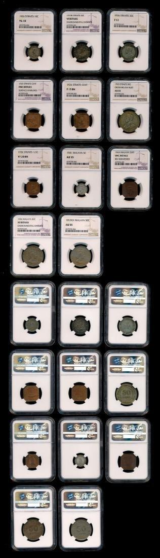 Bulk coins of Straits Settlements etc