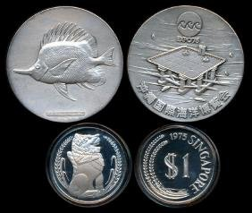 World coins & medals of Japan & Singapore