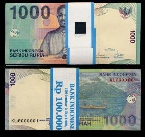 Indonesia 100x1000 Rupiah 2000-01