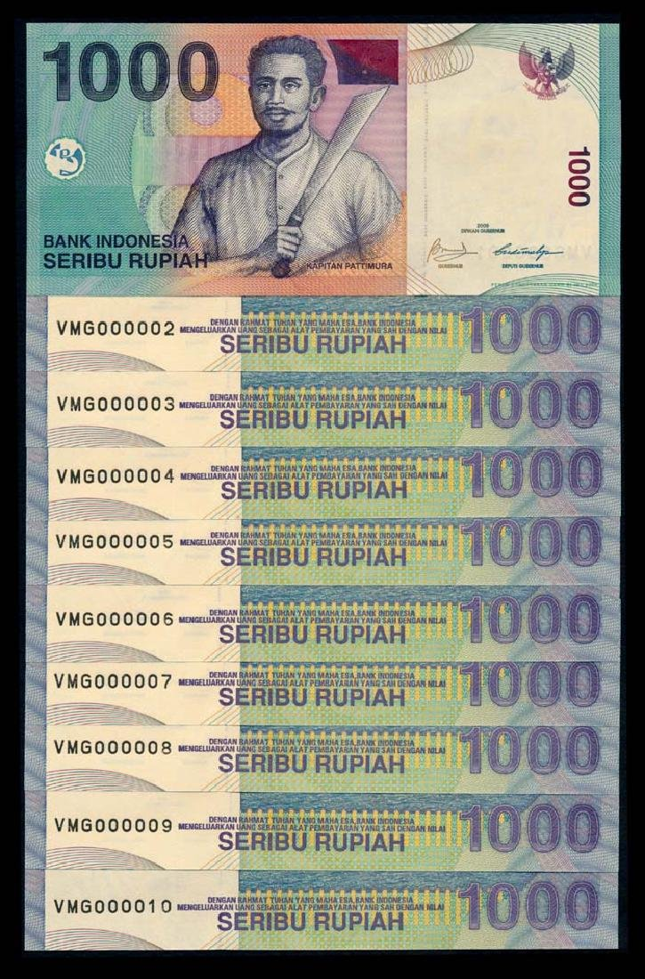 Indonesia 10x1000 Rupiah 2000-09