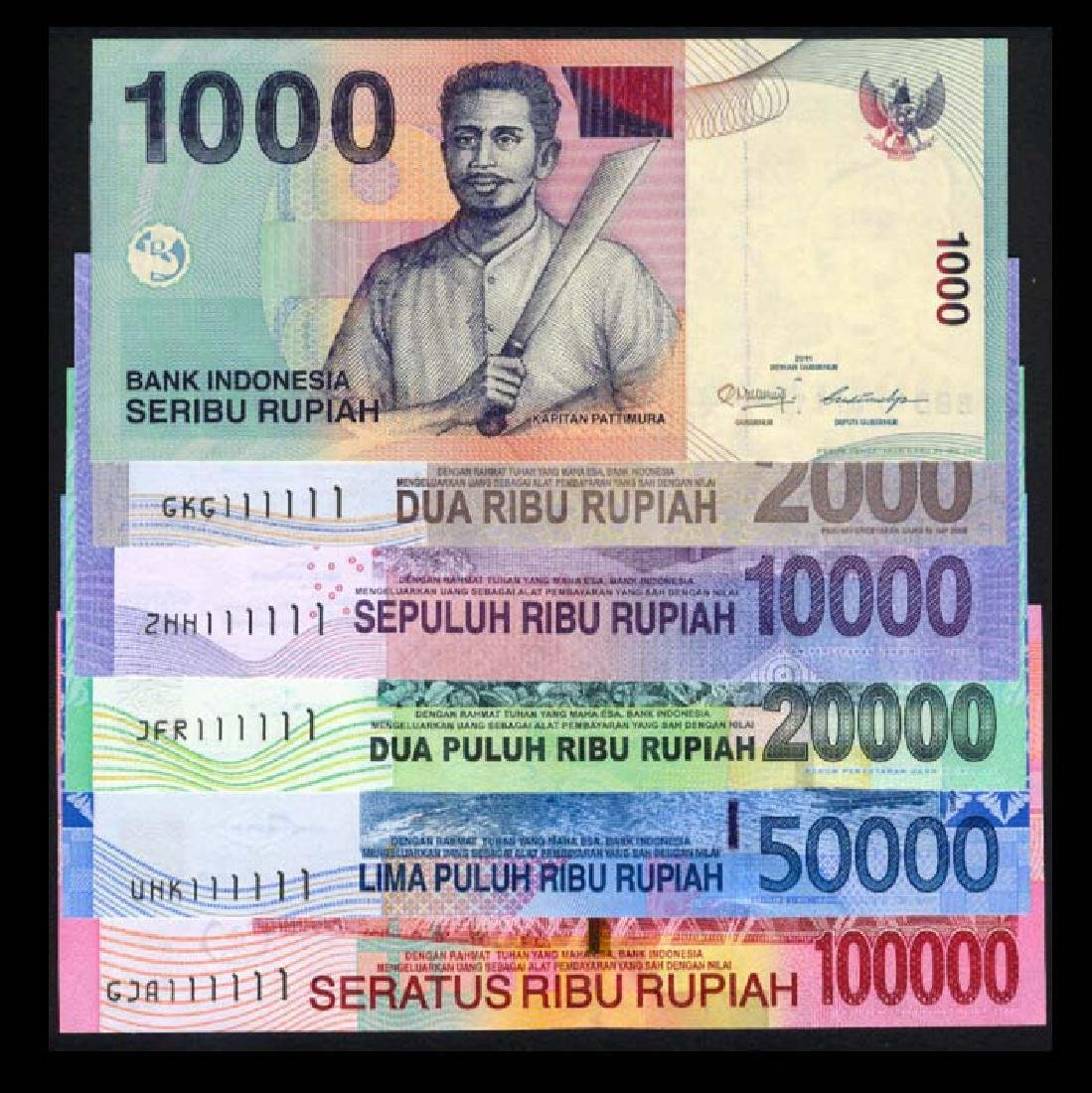 Indonesia 1000-100000 Rupiah 2000-13 111111