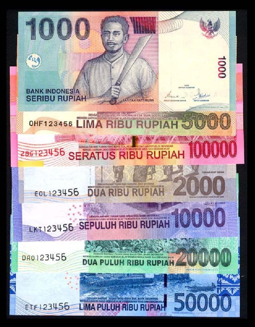 Indonesia 1000-100000 Rupiah 2000-14 123456