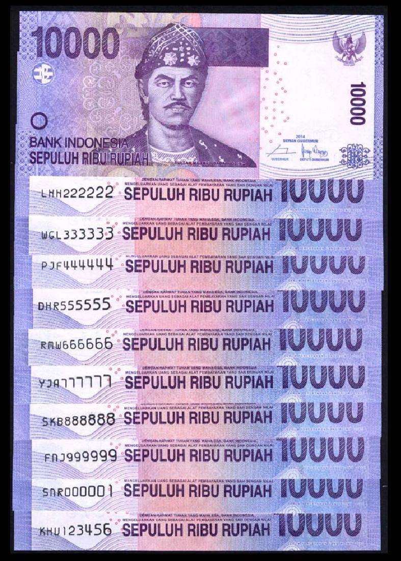 Indonesia 11x10000 Rupiah 2005-11
