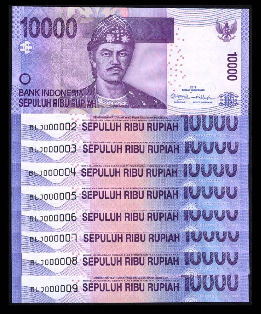 Indonesia 9x10000 Rupiah 2005/13