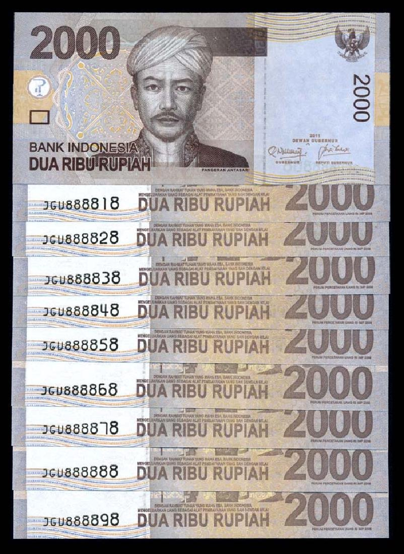 Indonesia 10x2000 Rupiah 2009-11