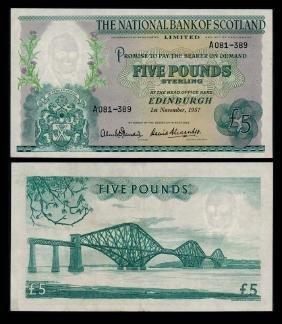 Scotland 5 Pounds 1957 GEF-AU